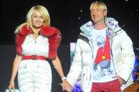 Плющенко и Рудковская представили коллекцию спортивной одежды