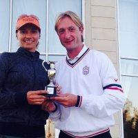 Плющенко с командой попал на пьедестал турнира по гольфу