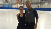 Плющенко и Липницкая тренируются вместе на катке в Сочи