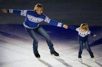Плющенко с сыном открыли московский чемпионат Европы по фигурному катанию